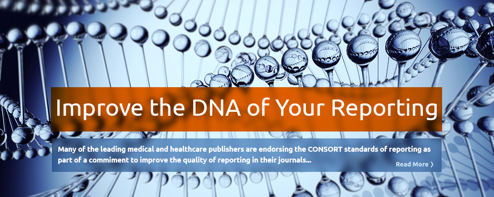 Improve the quality and transparency of your reporting by applying the CONSORT 2010 standard to your clinical trials reporting.